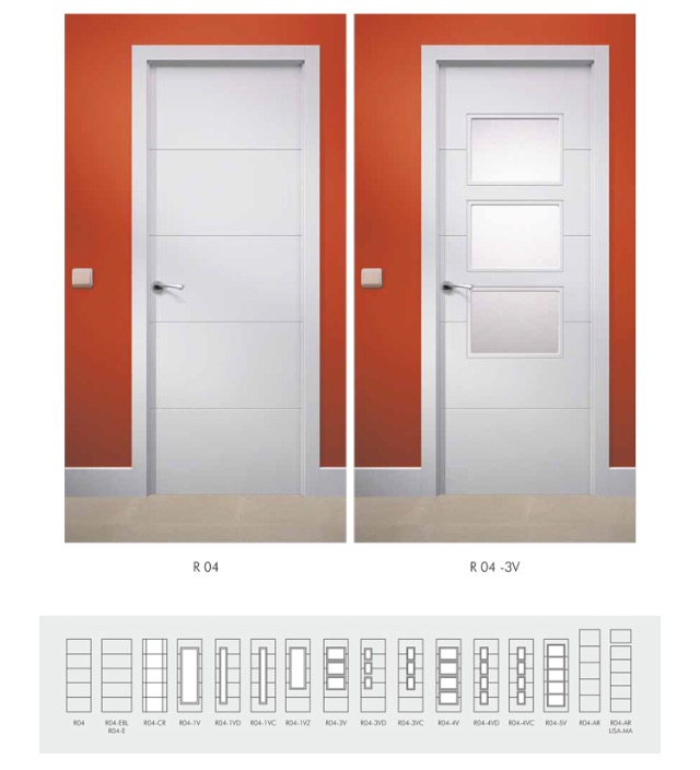 Puertas lacadas blancas puertas y ventanas esquivias for Puertas macizas blancas