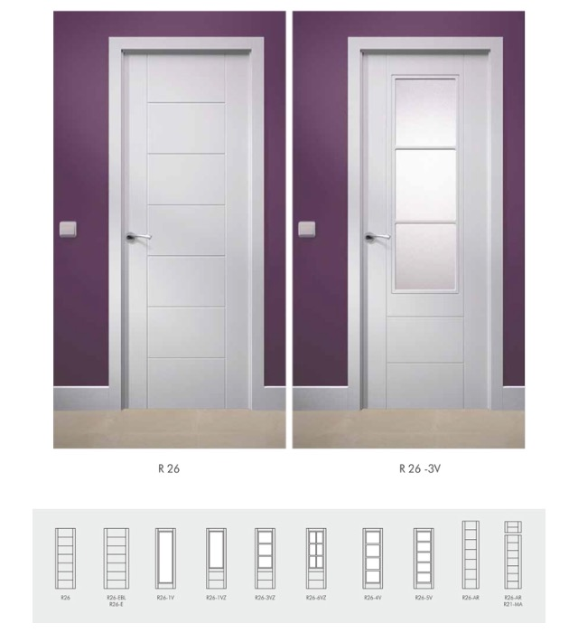 Puerta blanca lacada r26 puertas y ventanas esquivias - Puertas blancas precio ...