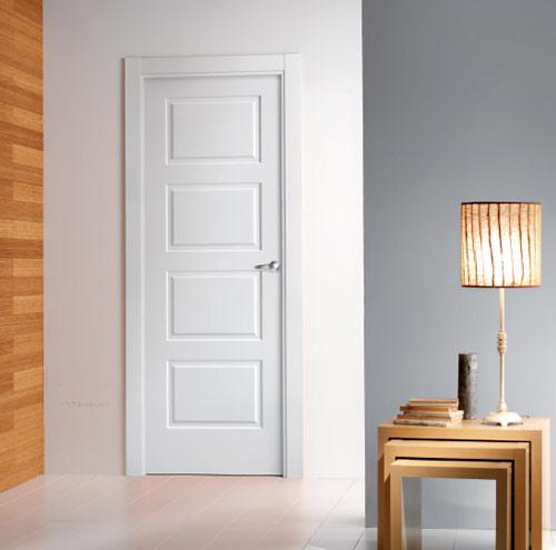 Puerta blanca plafones 4 puertas y ventanas esquivias - Puertas blancas exterior ...