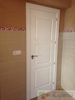 Puerta 3 cuarterones lacada blanco - Puertas dm lacadas blanco ...