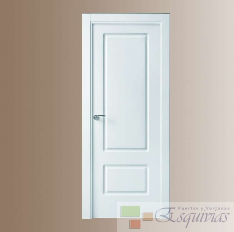 Puerta blanca lacada iris puertas y ventanas esquivias - Puertas blancas precio ...