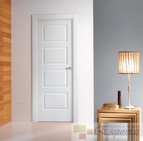 Puerta blanca plafones 4 puertas y ventanas esquivias - Puertas de interior blancas precios ...
