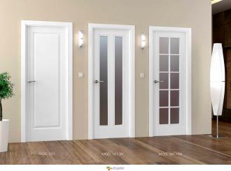 puerta interior blanca lacada 101