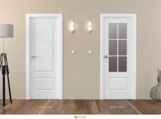 puerta interior blanca lacada 102