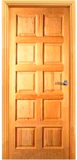 puerta de interior castellana rustica 8 tableros